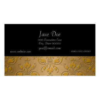 Fancy Yellow Gold Damask Business Cards