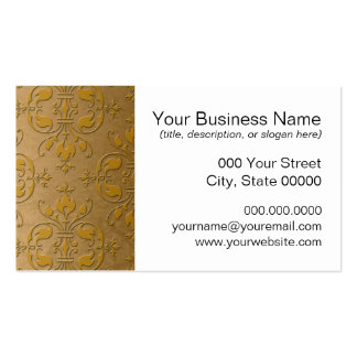 Fancy Yellow Gold Damask Business Card Template