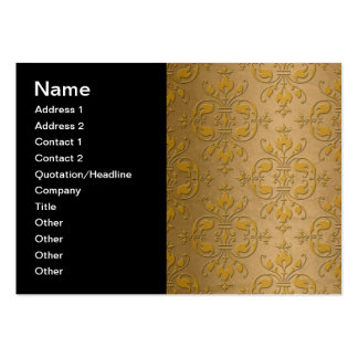 Fancy Yellow Gold Damask Pack Of Chubby Business Cards