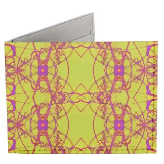 Fancy Yellow pink lace pattern