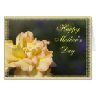 Fancy Yellow Rose Happy Mother's Day Card