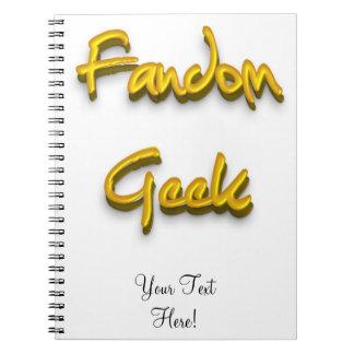 Fandom Geek Gold Spiral Note Book
