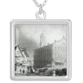 Faneuiel Hall, Boston Silver Plated Necklace