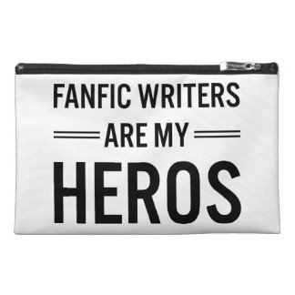 Fanfic Writers Are My Heros (Customizable Color) Travel Accessory Bag