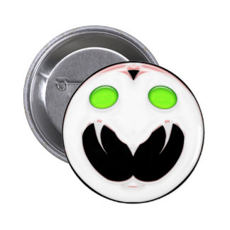Fang Face Smiley 6 Cm Round Badge
