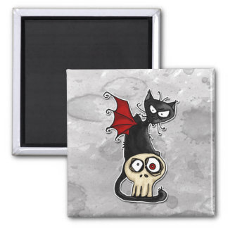 fang kitty square magnet