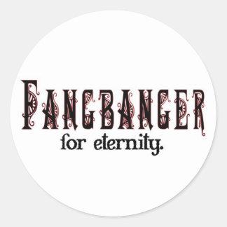 fangbanger for eternity round sticker