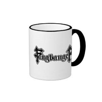 Fangbanger Vampire Halloween Ringer Coffee Mug