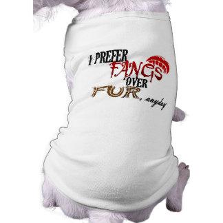 Fangs over Fur Dog T Shirt