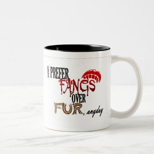 Fangs over Fur Mugs