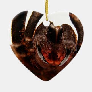 Fangs - Tarantula Art Image 2 Ceramic Heart Decoration