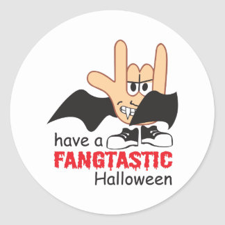 FANGTASTIC HALLOWEEN ROUND STICKERS