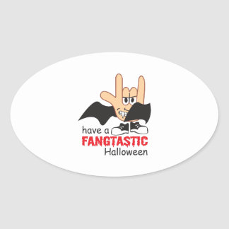 FANGTASTIC HALLOWEEN OVAL STICKERS
