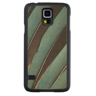 Fanned Out Blue Feather Design Maple Galaxy S5 Case