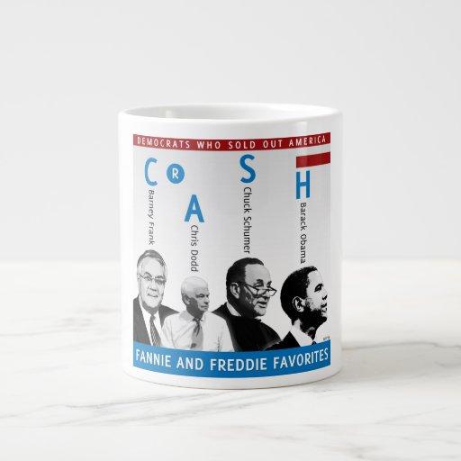 Fannie And Freddie Extra Large Mug
