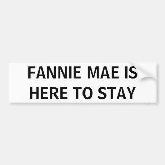 FANNIE MAE BUMPER STICKER