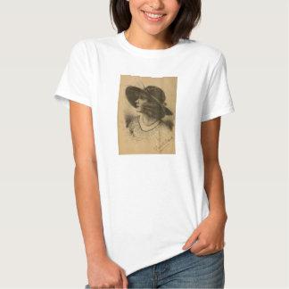 Fannie Ward 1915 pencil portrait Tee Shirts