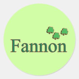 Fannon Family Round Sticker