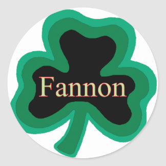 Fannon Family Round Sticker