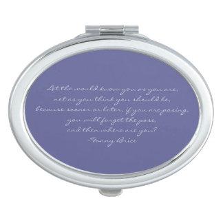 Fanny Brice Quote Purple Blue Compact Mirror