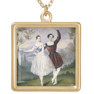 Fanny Cerrito (1817-1909) and Sigr. Guerra, in the Gold Plated Necklace