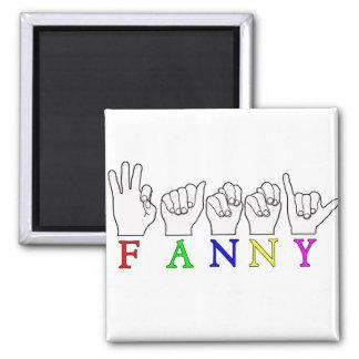 FANNY  NAME ASL FINGER SPELLED MAGNET