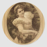 Fanny Rice  Vintage Theatre Round Sticker