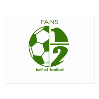 fans are half of football postcard