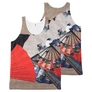Fans by Hokusai All-Over Design All-Over Print Tank Top