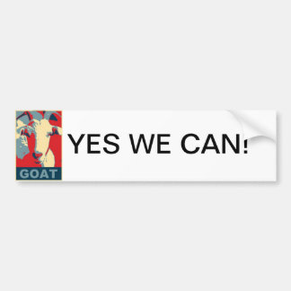 Fans of the Goat Bumper Sticker