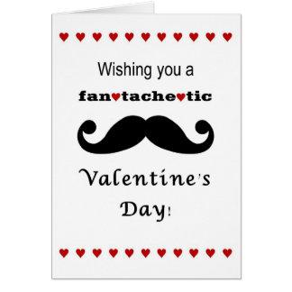 Fantachetic Mustache Valentine s day card