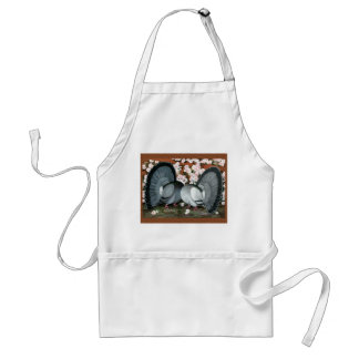 Fantail Pigeons Matched Pair Standard Apron