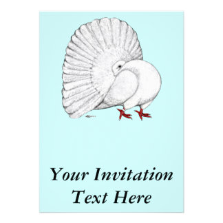 Fantail White Personalized Announcements