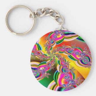 Fantasia Rainbow Strings Fractal Key Ring