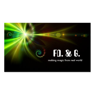 fantastic abstraction business card design