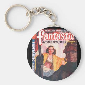 Fantastic Adventures 48-11_Pulp Art Basic Round Button Key Ring