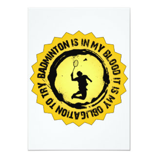 Fantastic Badminton Seal 13 Cm X 18 Cm Invitation Card