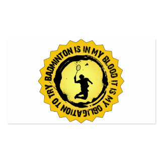 Fantastic Badminton Seal Pack Of Standard Business Cards
