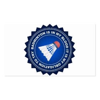 Fantastic Badminton Shield Pack Of Standard Business Cards