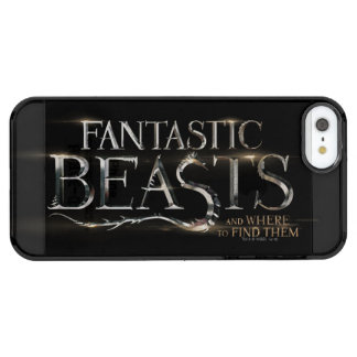 Fantastic Beasts And Where To Find Them Logo Clear iPhone SE/5/5s Case