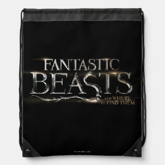 Fantastic Beasts And Where To Find Them Logo Drawstring Bag