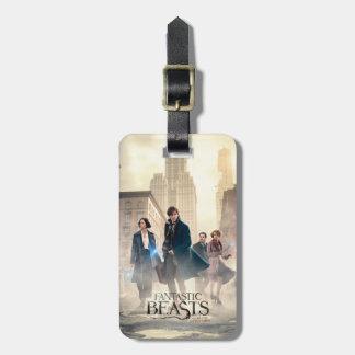 Fantastic Beasts City Fog Poster Luggage Tag