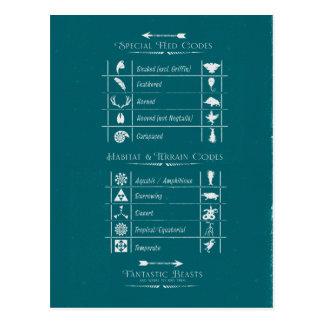 Fantastic Beasts Code Chart Postcard