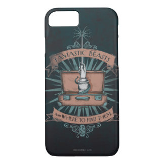 Fantastic Beasts Newt's Briefcase Graphic iPhone 8/7 Case