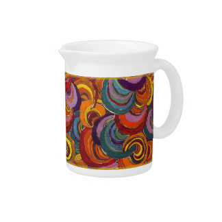 Fantastic Colorful Bloomsbury Swirls Pitcher
