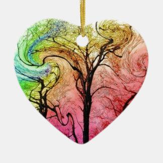 Fantastic Colors Ceramic Heart Decoration