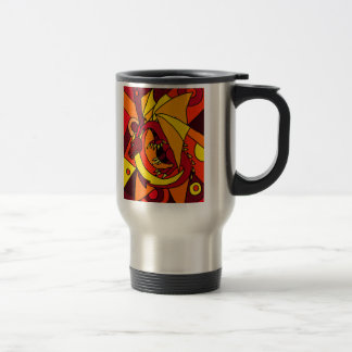 Fantastic Dragon and Fire Abstract Art Design Coffee Mugs