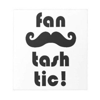 Fantastic 'Fan-Tash-Tic' Moustache Mug Notepad
