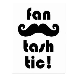 Fantastic 'Fan-Tash-Tic' Moustache Mug Postcard