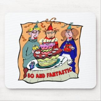 Fantastic Fifty 50th Birthday Gifts Mouse Pad